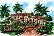 European Style House Plan - 4 Beds 5.5 Baths 4669 Sq/Ft Plan #27-269 Exterior - Front Elevation