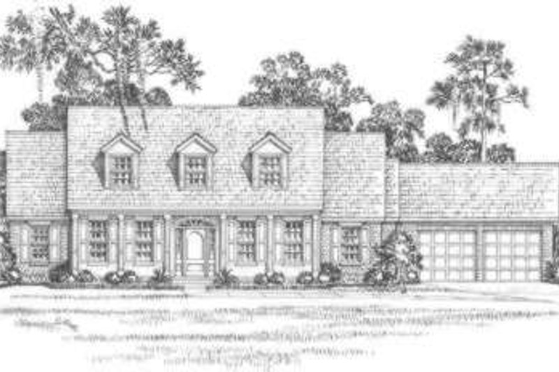 Southern Exterior - Front Elevation Plan #325-261 - Houseplans.com