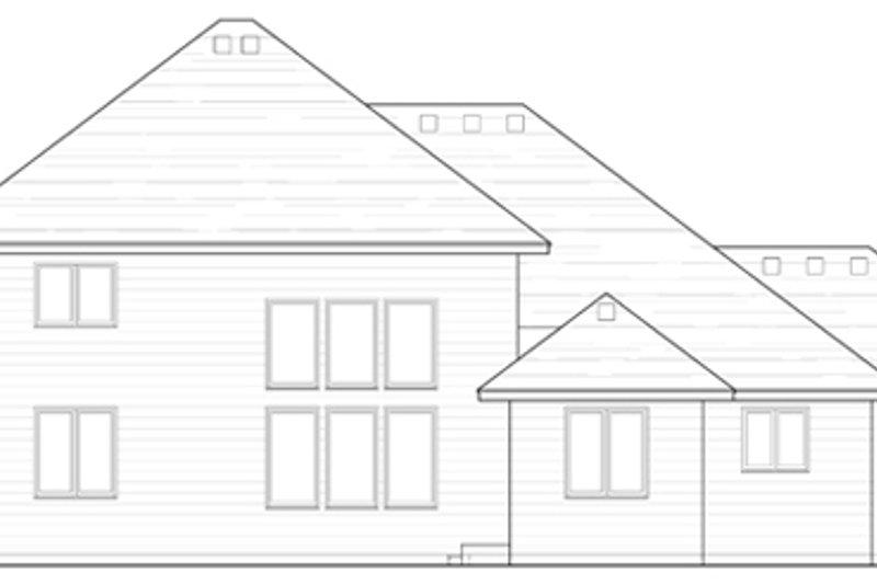 Traditional Exterior - Rear Elevation Plan #51-387 - Houseplans.com
