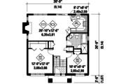 Contemporary Style House Plan - 2 Beds 1 Baths 900 Sq/Ft Plan #25-4264 Floor Plan - Main Floor Plan