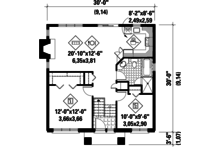 Contemporary Floor Plan - Main Floor Plan Plan #25-4264
