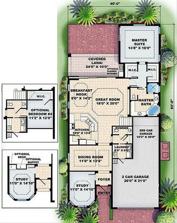 European Floor Plan - Main Floor Plan Plan #27-350