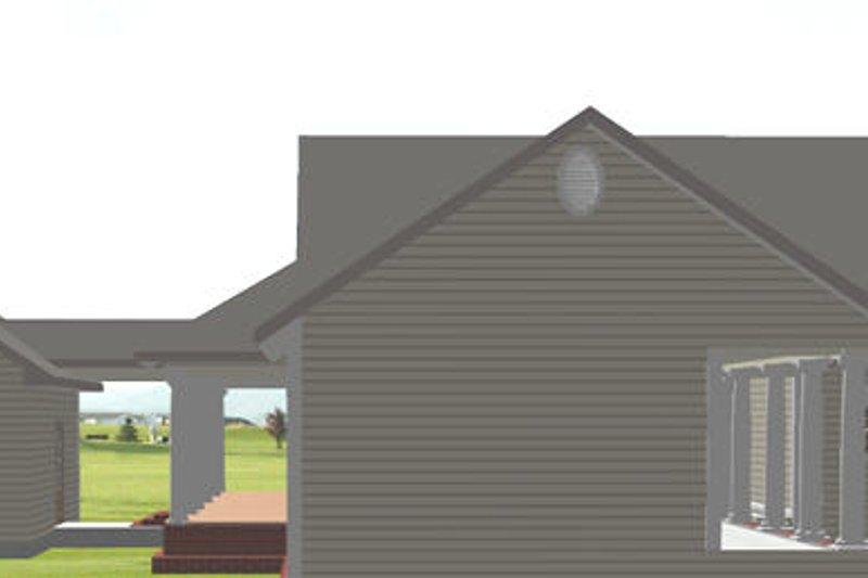 Country Exterior - Rear Elevation Plan #44-174 - Houseplans.com