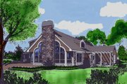 Modern Style House Plan - 5 Beds 2 Baths 2001 Sq/Ft Plan #314-162 Exterior - Front Elevation
