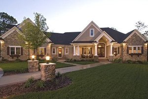 European style home, elevation