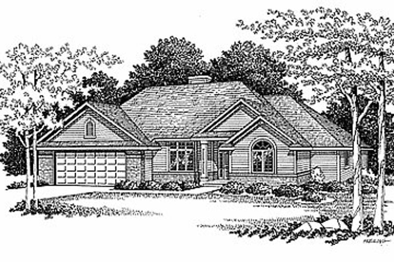 Traditional Exterior - Front Elevation Plan #70-199 - Houseplans.com