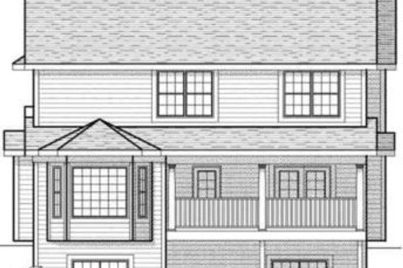 Farmhouse Exterior - Rear Elevation Plan #70-579 - Houseplans.com
