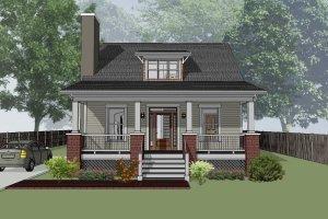 Cabin Exterior - Front Elevation Plan #79-192