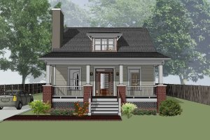 Architectural House Design - Cabin Exterior - Front Elevation Plan #79-192