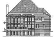 European Style House Plan - 5 Beds 4.5 Baths 4326 Sq/Ft Plan #119-105 Exterior - Rear Elevation