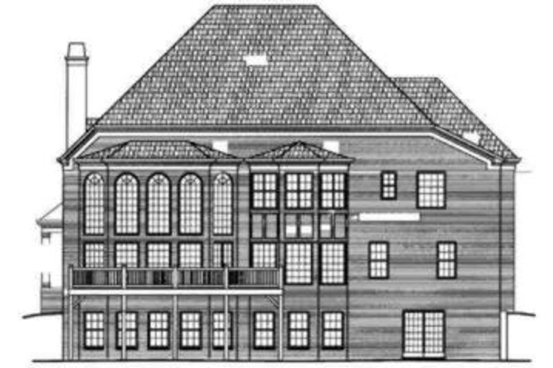 European Exterior - Rear Elevation Plan #119-105 - Houseplans.com