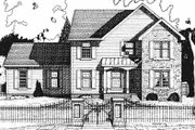 Colonial Style House Plan - 3 Beds 2.5 Baths 2161 Sq/Ft Plan #20-740 Exterior - Front Elevation