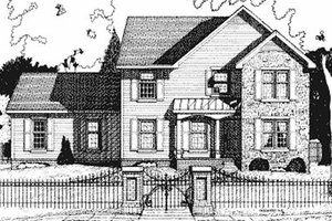 Colonial Exterior - Front Elevation Plan #20-740