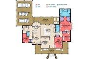 Farmhouse Style House Plan - 3 Beds 2 Baths 2498 Sq/Ft Plan #63-385 Floor Plan - Main Floor Plan