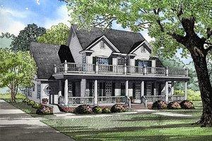 Farmhouse Exterior - Front Elevation Plan #17-528