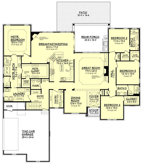 Architectural House Design - European Floor Plan - Main Floor Plan #430-130