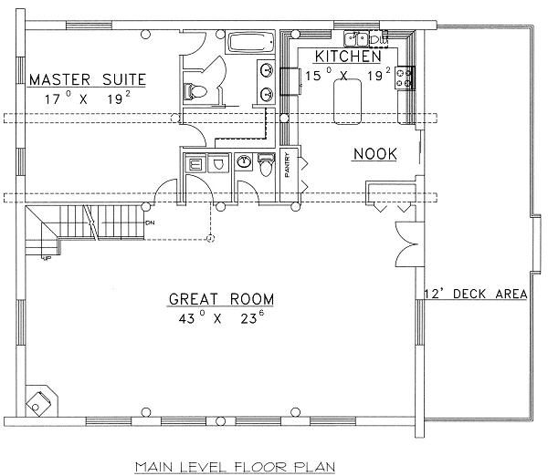 Log Floor Plan - Main Floor Plan Plan #117-501