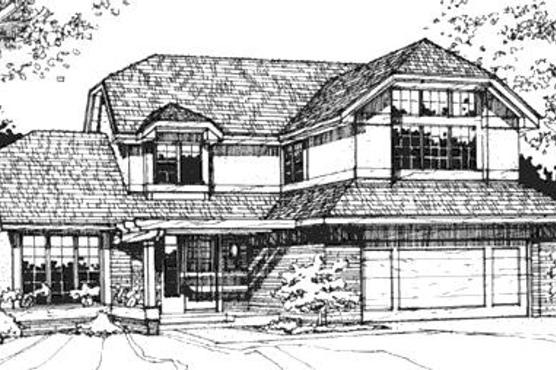 European Exterior - Front Elevation Plan #320-478 - Houseplans.com