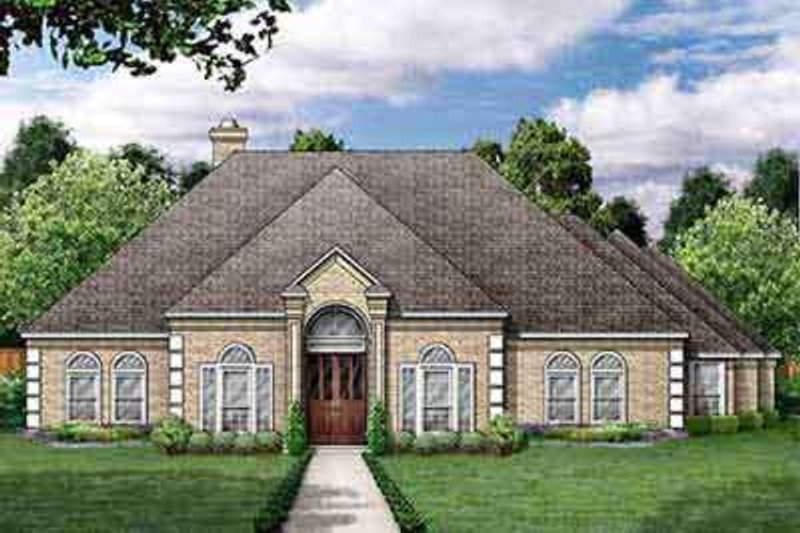 Dream House Plan - European Exterior - Front Elevation Plan #84-199