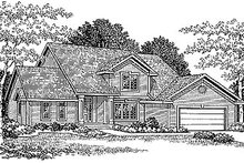 Dream House Plan - Traditional Exterior - Front Elevation Plan #70-234