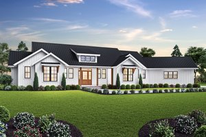 Farmhouse Exterior - Front Elevation Plan #48-1027