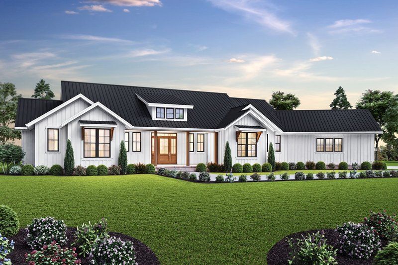 Farmhouse Exterior - Front Elevation Plan #48-1027