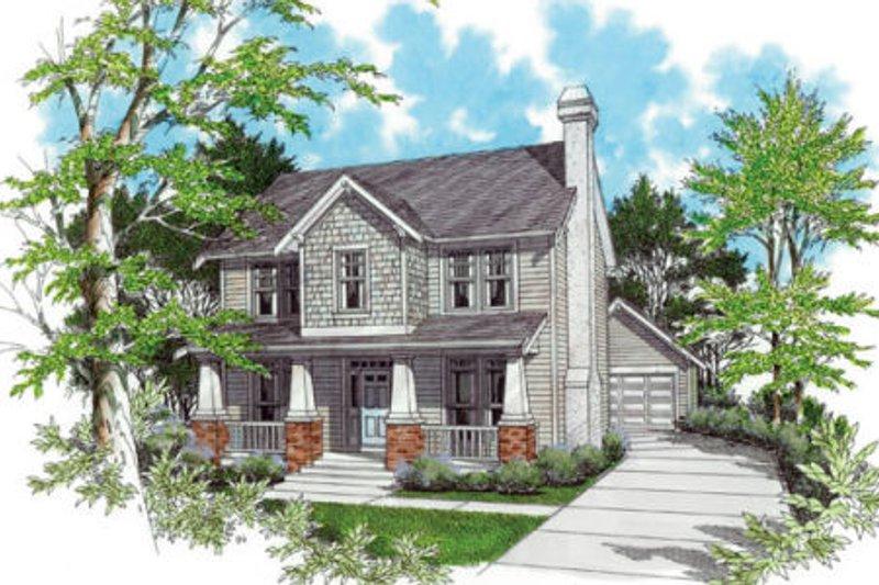Craftsman Exterior - Front Elevation Plan #48-339