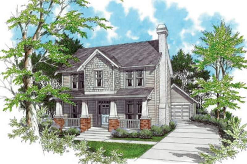Craftsman Exterior - Front Elevation Plan #48-339