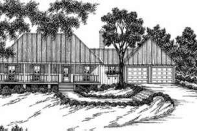 Southern Exterior - Front Elevation Plan #36-403