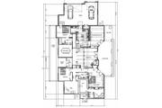 Log Style House Plan - 4 Beds 3 Baths 3280 Sq/Ft Plan #451-4 Floor Plan - Main Floor Plan