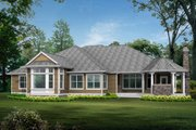 Traditional Style House Plan - 4 Beds 3 Baths 3500 Sq/Ft Plan #132-206 Exterior - Rear Elevation