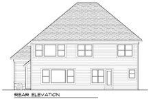 Craftsman Exterior - Rear Elevation Plan #70-990