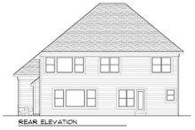 Craftsman Exterior - Rear Elevation Plan #70-990