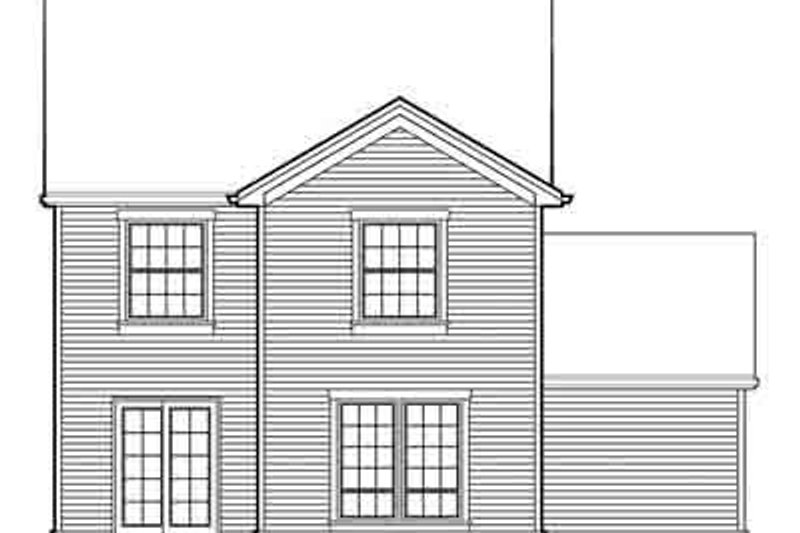 Farmhouse Exterior - Rear Elevation Plan #48-192 - Houseplans.com