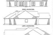 European Style House Plan - 4 Beds 2 Baths 2238 Sq/Ft Plan #17-150 Exterior - Rear Elevation