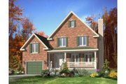 Country Style House Plan - 3 Beds 1.5 Baths 1352 Sq/Ft Plan #138-320 Exterior - Front Elevation