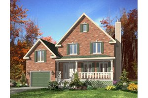 Country Exterior - Front Elevation Plan #138-320