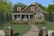 Craftsman Style House Plan - 3 Beds 2 Baths 1779 Sq/Ft Plan #56-629 Exterior - Front Elevation