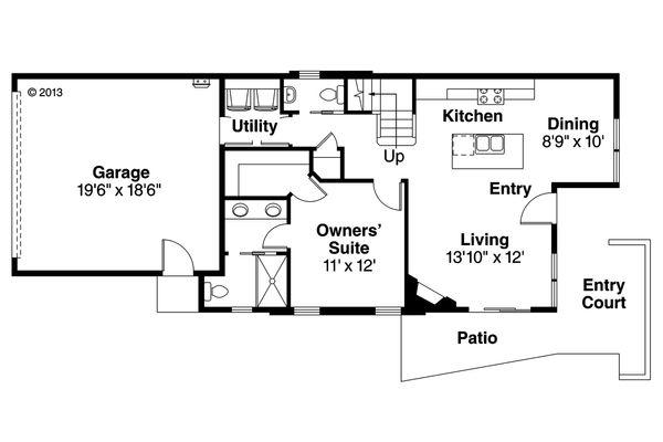 House Plan Design - Floor Plan - Main Floor Plan #124-954