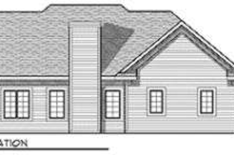 Traditional Exterior - Rear Elevation Plan #70-679 - Houseplans.com