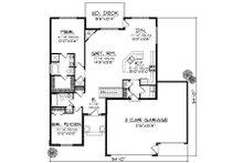 Traditional Floor Plan - Main Floor Plan Plan #70-858