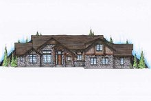 Home Plan - Bungalow Exterior - Front Elevation Plan #5-380