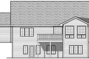 Ranch Style House Plan - 4 Beds 2.5 Baths 2787 Sq/Ft Plan #70-690 Exterior - Rear Elevation