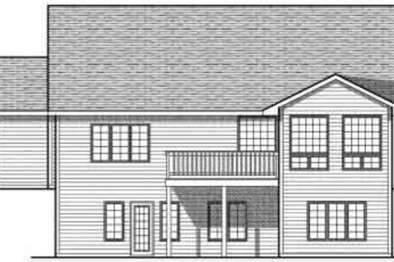 Ranch Exterior - Rear Elevation Plan #70-690 - Houseplans.com