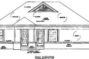 Southern Style House Plan - 3 Beds 2 Baths 1095 Sq/Ft Plan #81-123 Exterior - Rear Elevation