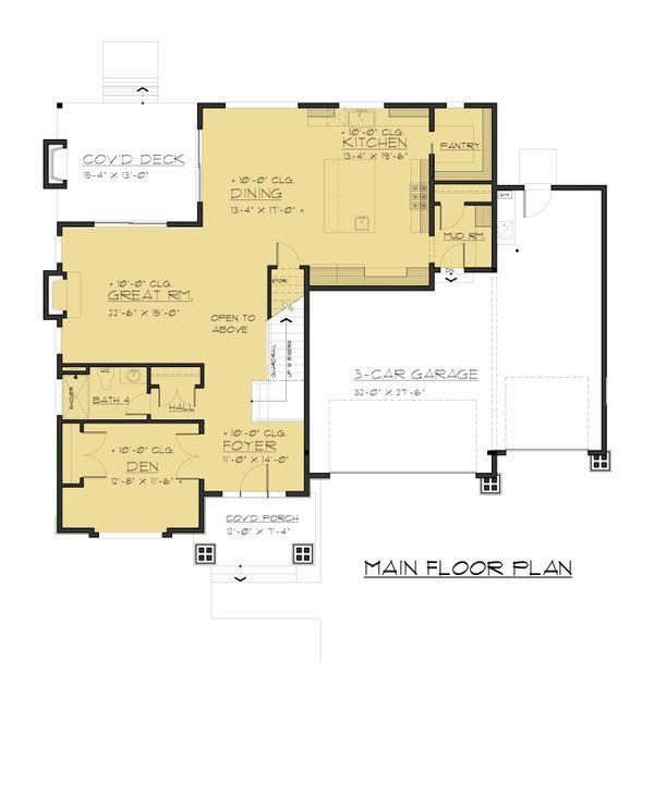 Contemporary Floor Plan - Main Floor Plan Plan #1066-47