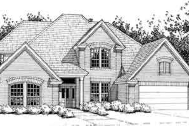 Dream House Plan - Traditional Exterior - Front Elevation Plan #120-114
