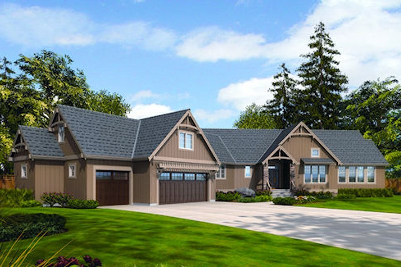 Dream House Plan - Craftsman Exterior - Front Elevation Plan #48-240