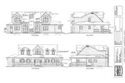 Traditional Style House Plan - 4 Beds 3.5 Baths 3141 Sq/Ft Plan #47-222 Exterior - Rear Elevation