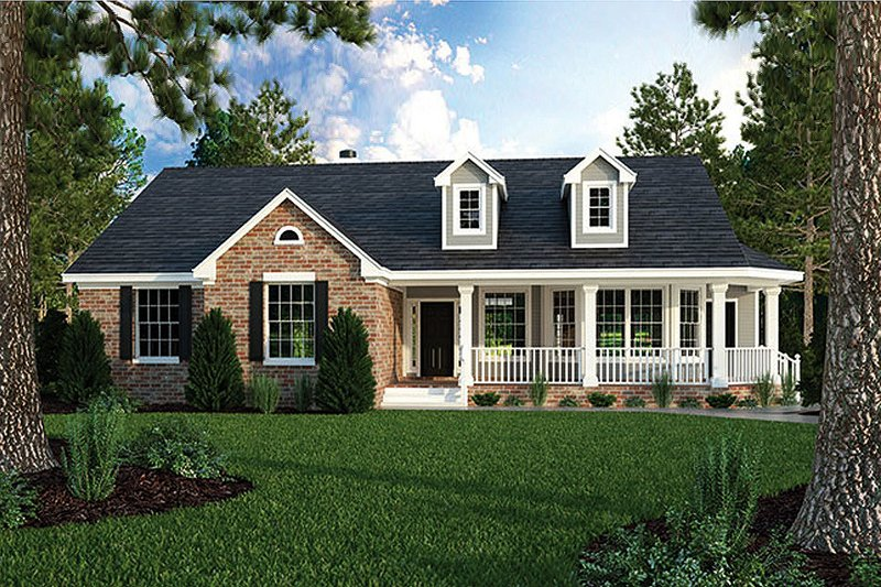 Architectural House Design - Country Exterior - Front Elevation Plan #472-149
